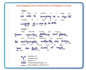 Dysorthographie exemple 1